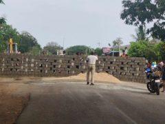 tamil nadu border wall-corona-lockdown