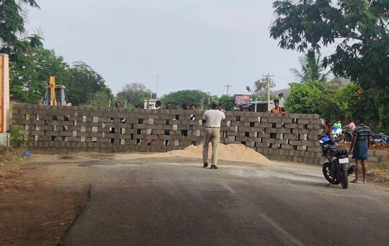 tamil nadu border wall-corona-lockdown